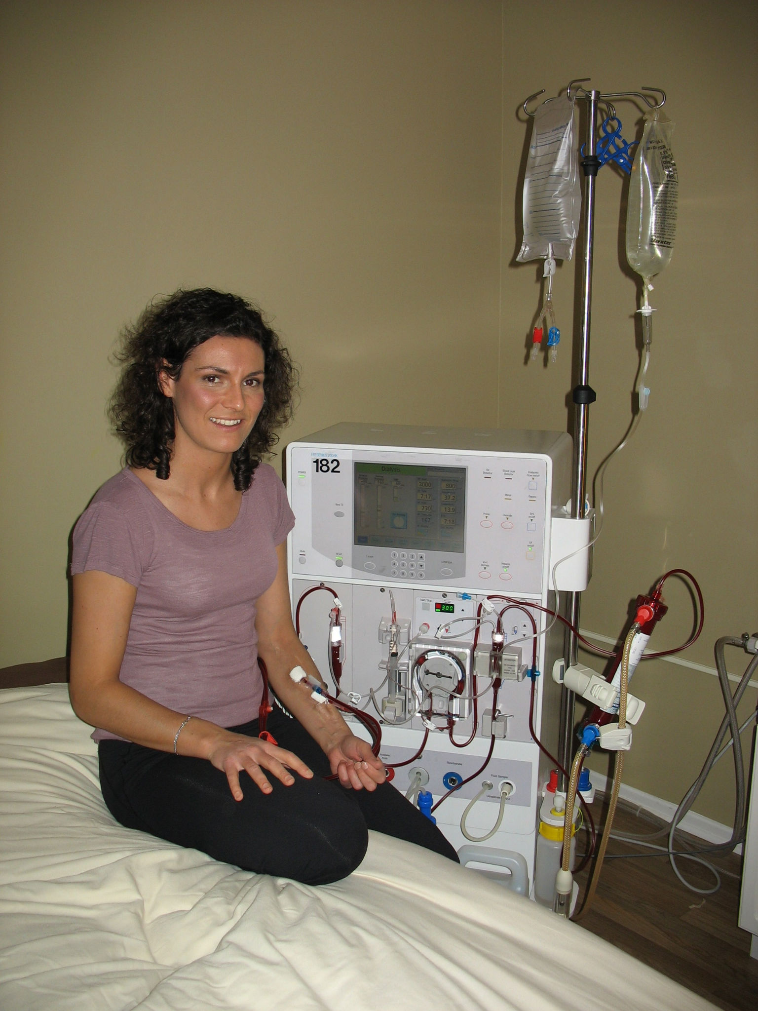 Marie-Eve`s home hemodialysis set up