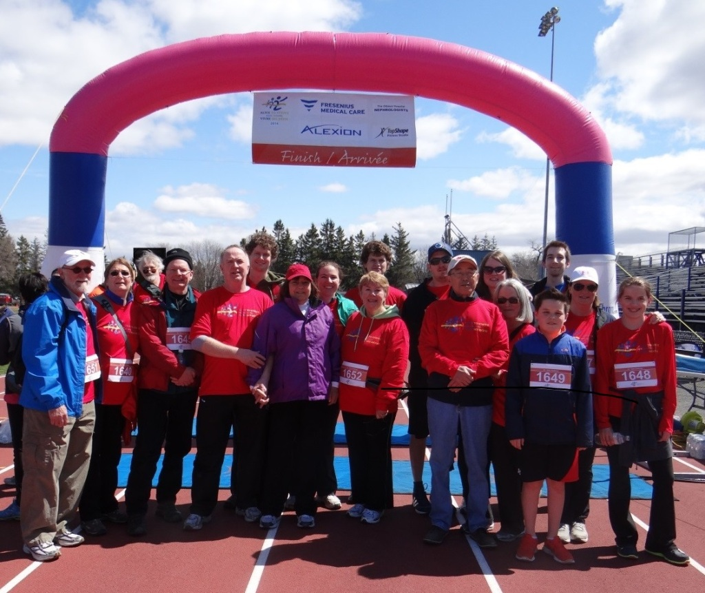 Here we are, The Kimini Kidneys, at the 2014 Alive to Strive race