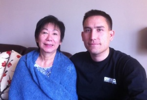 Mark and his mother, Ruth, not long after the transplant surgery